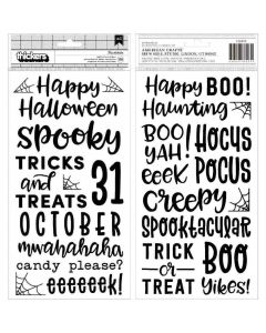 Spoooky Puffy Phrase Thickers - Pebbles*