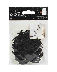 Spiders Wall Adhesive, Black - Spoooky - Pebbles*