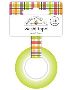 Frankie's Flannel Washi Tape - Happy Haunting - Doodlebug