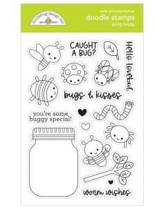 Going Buggy Doodle Stamps - Happy Haunting - Doodlebug