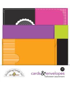 Halloween Assortment Cards & Envelopes - Happy Haunting - Doodlebug