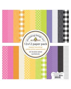 "Happy Haunting 12"" x 12"" Petite Prints Pack - Doodlebug"