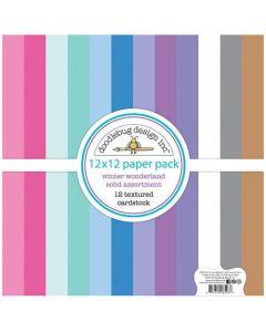 Winter Wonderland Textured Cardstock Assortment Pack - Doodlebug Design