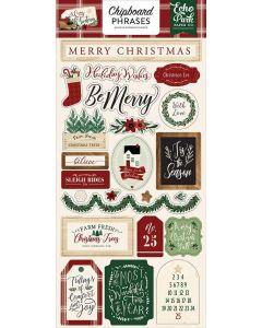 "A Cozy Christmas 6"" x 13"" Chipboard Phrase Stickers - Echo Park"