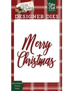 Merry Christmas #4 Word Die Set - A Cozy Christmas - Echo Park