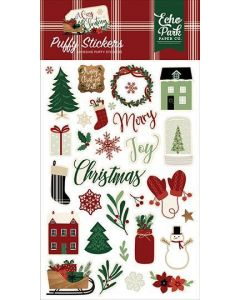 A Cozy Christmas Puffy Stickers - Echo Park