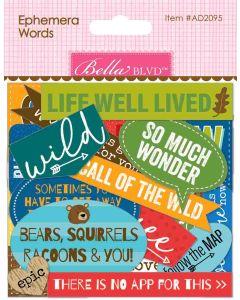 Let's Go On An Adventure Ephemera Words