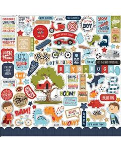 "All Boy 12"" x 12"" Element Sticker - Lori Whitlock - Echo Park*"