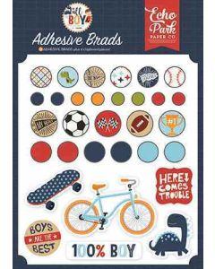 All Boy Adhesive Brads - Lori Whitlock - Echo Park*
