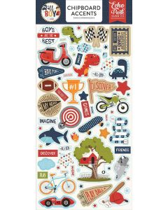 All Boy Chipboard Accents - Lori Whitlock - Echo Park*