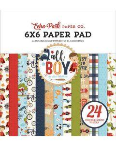 """All Boy 6"""" x 6"""" Paper Pad - Lori Whitlock - Echo Park*"""