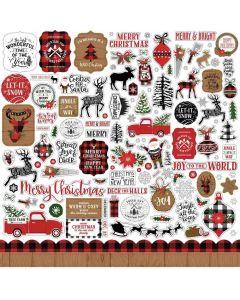 A Lumberjack Christmas Element Stickers - Echo Park