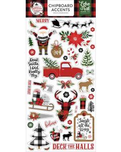 A Lumberjack Christmas Chipboard Accents - Echo Park