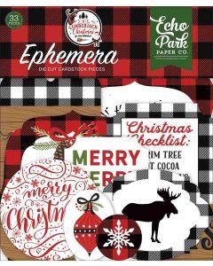 A Lumberjack Christmas Ephemera - Echo Park