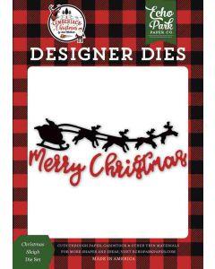 Holiday Gift Tags Dies - A Lumberjack Christmas - Echo Park