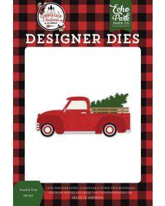 Truck & Tree Dies - A Lumberjack Christmas - Echo Park