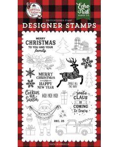 Cookies for Santa Stamps - A Lumberjack Christmas - Echo Park