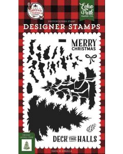 Layered Pine Tree Stamps - A Lumberjack Christmas - Echo Park