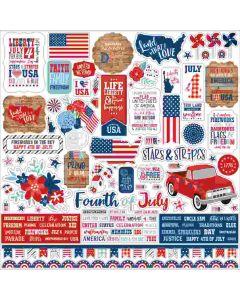 America Element Stickers - Echo Park