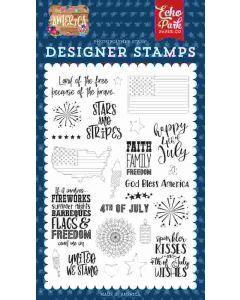 Stars & Stripes Stamp Set - America - Echo Park*