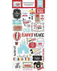 A Magical Place Chipboard Phrases - Echo Park*