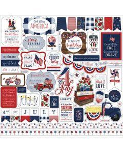 America The Beautiful Element Stickers - Echo Park