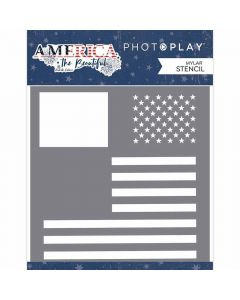 Flag Stencil - America the Beautiful - Michelle Coleman - PhotoPlay