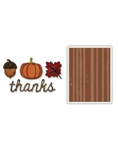 Tim Holtz Sizzix Autumn Side-Order thinlits and embossing folder