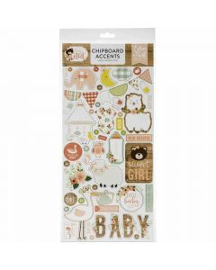 "Baby Girl 6"" x 13"" Chipboard Accents - Echo Park"