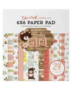 "Baby Girl 6"" x 6"" Paper Pad - Echo Park"