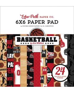 "Basketball 6"" x 6"" Paper Pad - Echo Park"