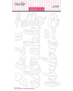 Hello There Chipboard Words - My Candy Girl - Bella Blvd