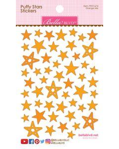 Orange Mix Puffy Stars Stickers - Chloe - Bella Blvd