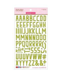 Pickle Juice Wonky Alpha Puffy Stickers - Cooper - Bella Blvd*