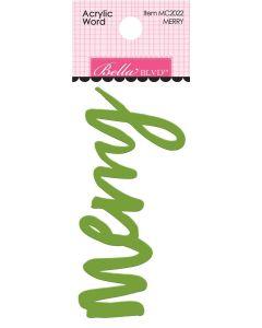 Merry Acrylic Words - Fa La La - Bella Blvd