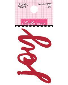 Joy Acrylic Words - Fa La La - Bella Blvd