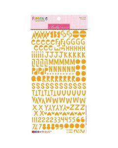 Orange Florence Alphabet Stickers - Bella Besties - Bella Blvd