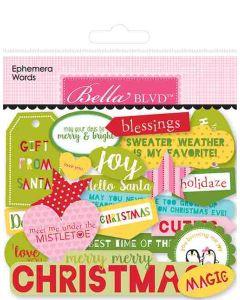 Santa Squad Ephemera Words - Bella Blvd