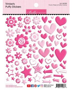 Punch, Peep & Cotton Candy Trinkets Puffy Stickers - Bella Besties - Bella Blvd