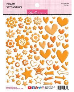 Orange Trinkets Puffy Stickers - Bella Besties - Bella Blvd