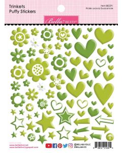 Pickle Juice & Guacamole Trinkets Puffy Stickers - Bella Besties - Bella Blvd