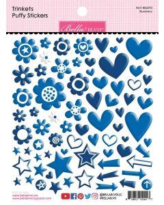 Blueberry Trinkets Puffy Stickers - Bella Besties - Bella Blvd