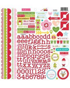 Doohickey Cardstock Stickers - Fa La La - Bella Blvd