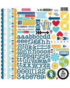 To the Moon Doohickey Cardstock Stickers - Bella Blvd