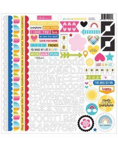 You Are My Sunshine Doohickey Cardstock Stickers - Bella Blvd