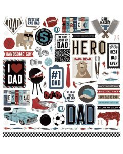 Best Dad Ever Element Stickers - Becky Fleck - PhotoPlay