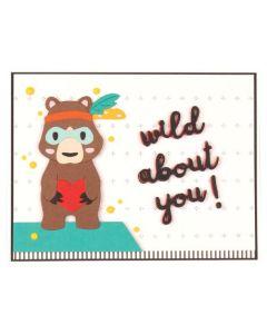 Spellbinders Bear, Oh My Card