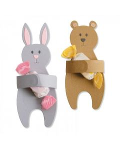 Bunny & Bear Hugs Thinlits Dies - Samantha Barnett - Sizzix