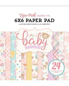 Hello Baby Girl Paper Pad