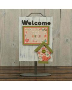 Welcome Birdhouse Sign